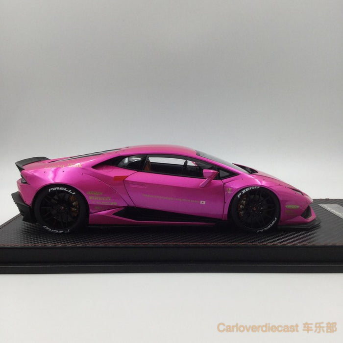 (ACM) Huracan LB Works Diecast Scale 1:18 (Flash Pink interior brown) custom made lead time 2 weeks