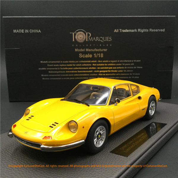 Top Marques 1:18  Dino (Black) Resin car Model (TOP88B) Limited 200 units
