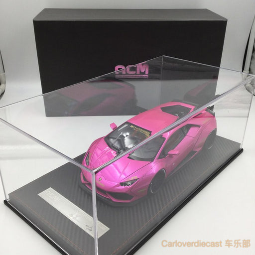(ACM) Huracan LB Works Diecast Scale 1:18 (Flash Pink interior brown)
