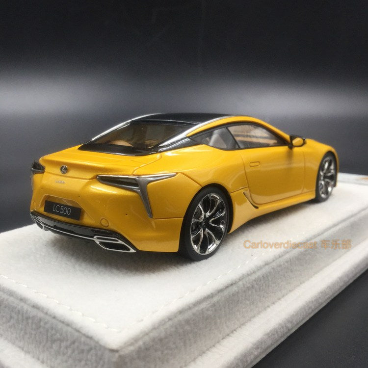 Makeup 1:43 Lexus LC500 S Package 2017 (LHD) Naples yellow (EX4002L) available now