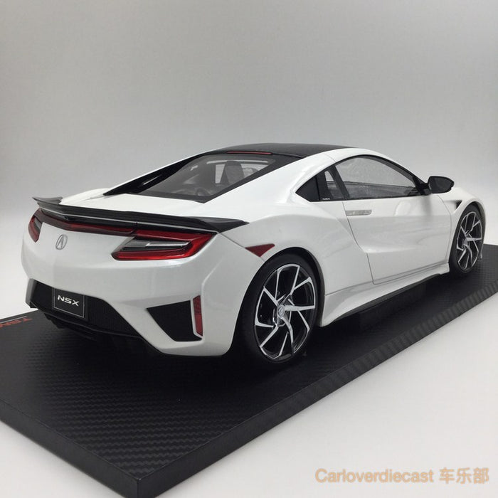 TSM Acura NSX 2017 130R  resin scale 1:12 (White Carbon Fiber Package) LHD limited 300 pcs  TSM161202 available now