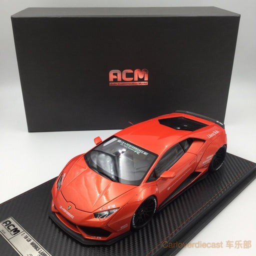 (ACM) Huracan LB Works Diecast Scale 1:18 (Metallic Orange interior creamy-white) (Lead time for custom made 2-3weeks)