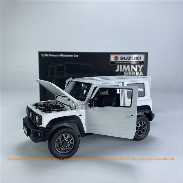 BM Creations 1:18 Suzuki Jimny (JB74)  Superior White (26U)  (Right/Left Hand Drive)(18B0014/18B0015)  diecast Full open