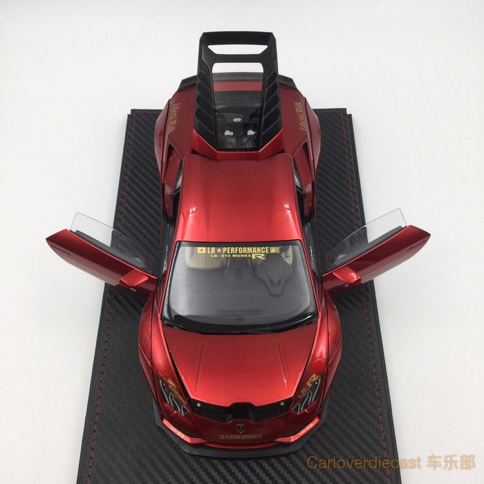 (ACM) Huracan LB Works Diecast Scale 1:18 (metallic Red interior creamy-white) custom made by order lead time 2 weeks