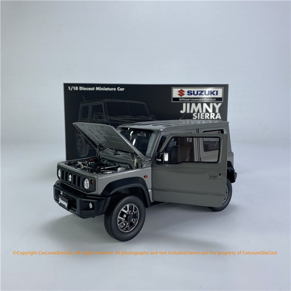 BM Creations 1:18 Suzuki Jimny (JB74)  Medium Gray  (Left Hand Drive  ) (18B0013)  diecast Full open