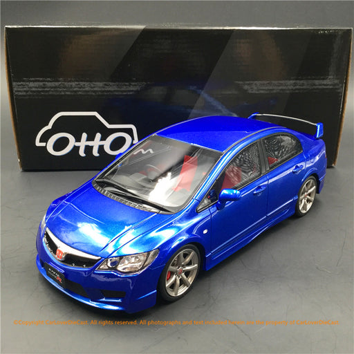 Kyosho  OttO 1:18 Honda Civic FD2 (OTM773-B)Blue Resin Car model