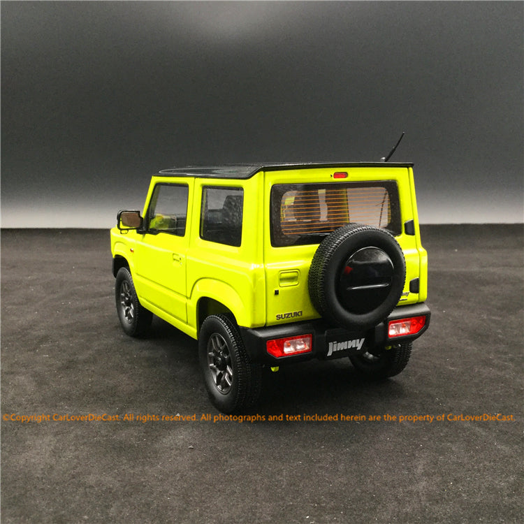 BM Creations 1:18 Suzuki Jimny (JB64) Japan Special 660cc Engine (Kinetic Yellow) with Bluish Black Pearl Top (RHD) limited 660 units (18B0001) available on October 15th 2020 Pre order now