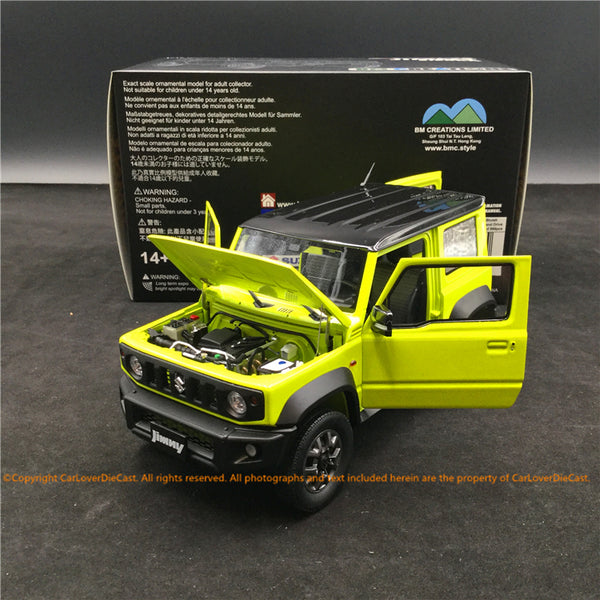 BM Creations 1:18 Suzuki Jimny (JB74)  Kinetic Yellow with Bluish Black Pearl Top (LHD ) limited 999 units (18B0009) available on October 15th 2020 Pre order now