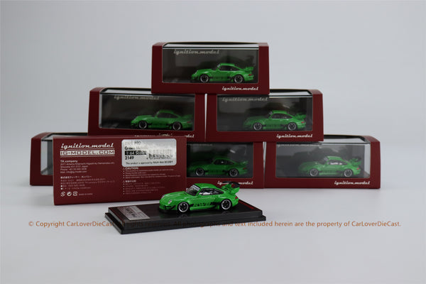 Ignition Model 1/64 RWB 993 Green  (IG2149) resin car model