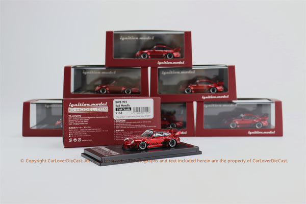 Ignition Model 1/64RWB 993 Red Metallic (IG2154) resin car model available on MAR 2021
