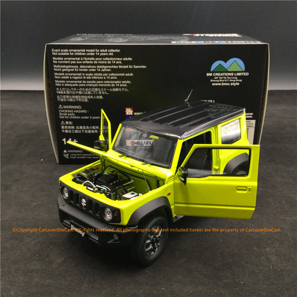 BM Creations 1:18 Suzuki Jimny (JB74)  Kinetic Yellow with Bluish Black Pearl Top (RHD ) ) limited 999 units (18B0008) ) available on October 15th 2020 Pre order now