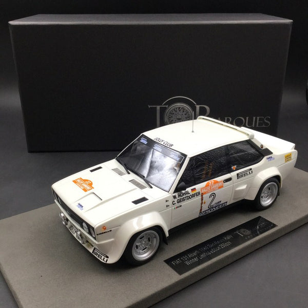 Top Marques - Fiat 131 Abarth #2 winner 1980  resin scale 1:18 (TOP43D) available now