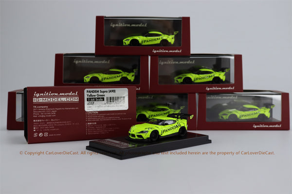 Ignition Model 1/64 PANDEM Supra (A90)   Yellow Green  (IG2337) resin car model