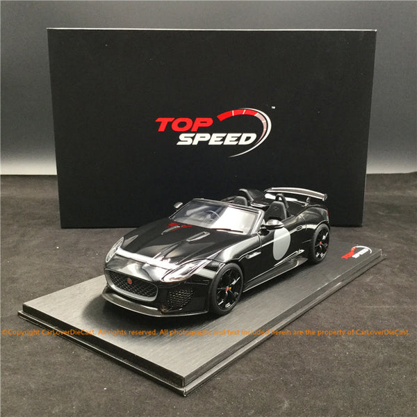 TopSpeed - Jaguar F-Type Project 7 Black Resin scale 1:18 (TS0168) limited 999pcs available now
