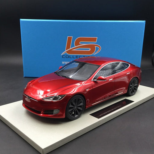 LS Collectibles - Tesla Model S Facelift  in Red resin scale 1:18 (LS028D)