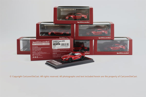 Ignition Model 1/64 PANDEM Supra (A90)  Red Metallic  (IG2332) resin car model