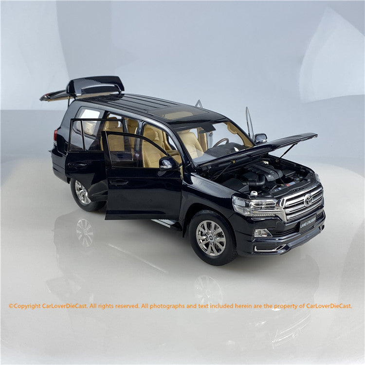 KengFai 1:18 Toyota LandCruiser (Black / White) Diecast Car full open  Model