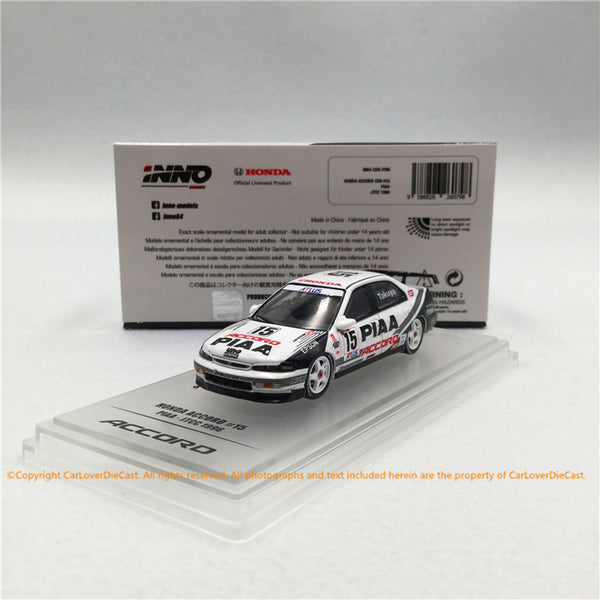 "INNO Modèle 1:64 HONDA ACCORD # 15 ""PIAA"" JTCC 1996 (IN64-CD6-PI96) modèle moulé sous pression disponible maintenant"