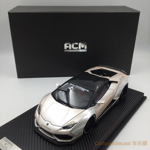 (ACM) Huracan LB Works Diecast Scale 1:18 (Pearl White with gold deco special edition)(ACM-009)