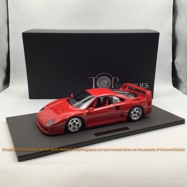 Top Marques -  F40  1:12 resin model (TM12-17A) Red available now
