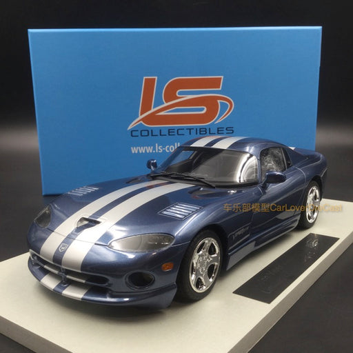 LS Collectibles - Dodge Viper GTS 2002 Steel Grey with silver stripes resin scale 1:18 (LS016C) available  now