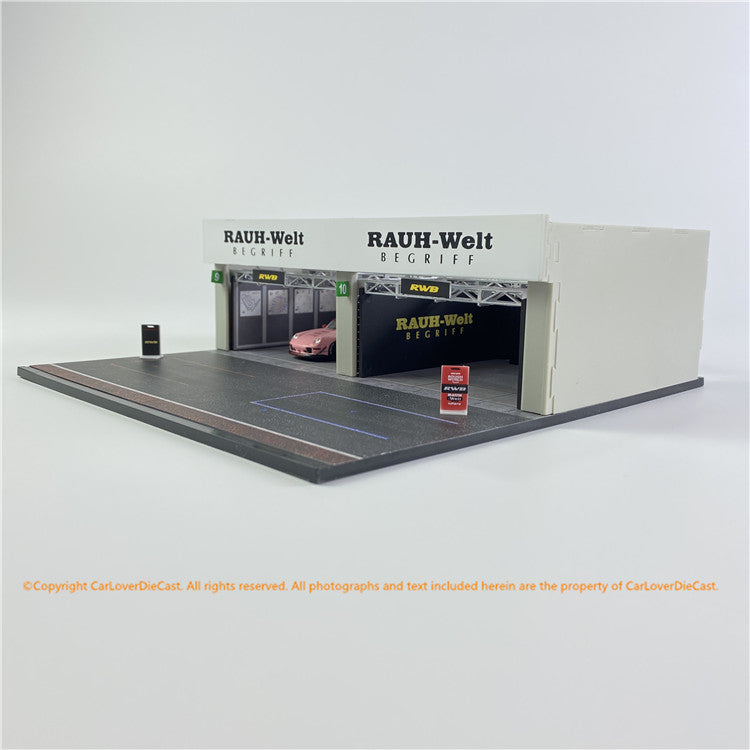 Tarmac Works 1:64 Racing Pit Garage - RWB *** Includes exclusive model (