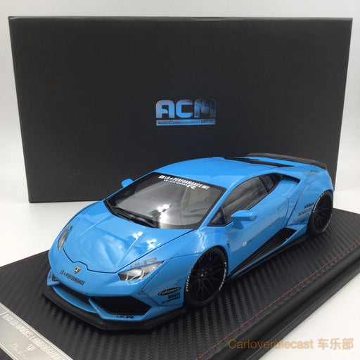 (ACM) Huracan LB Works Diecast Scale 1:18 (Baby Blue interior creamy-white) Limited Edition 20pcs  Ready Stock