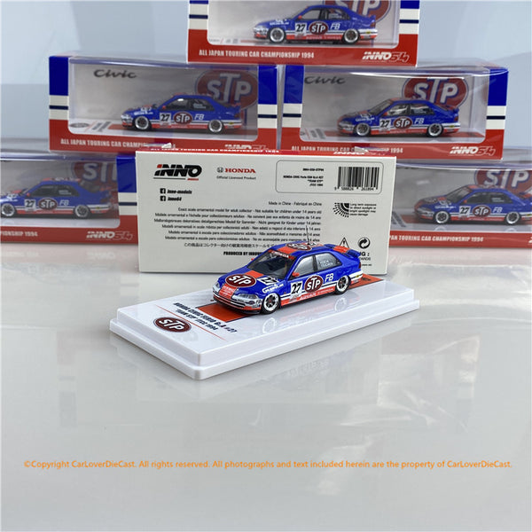 "Inno 1:64 HONDA CIVIC Ferio EG9 Gr.A #27 ""TEAM STP"" JTCC 1994 (IN64-EG9-STP94) Diecast car model"