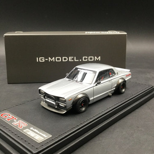 Ignition Model 1:43 Nissan Skyline 2000 GT-R (KPGC10) Silver resin model (IG1601) available now