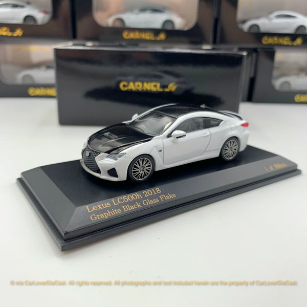 "Carnel 1:64 Lexus RC F ""Carbon Exterior Package"" 2018 White Nova Glass Fake (CN640032)  diecast car model available now"