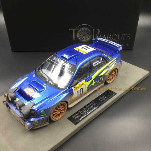 Top Marques - Subaru Impreza S7 555 WRT dirty w headlamps resin scale 1:18 (TOP37CD) available now