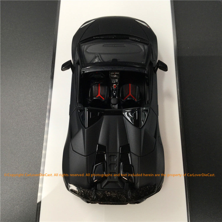 Makeup 1:43 Lamborghini Huracan Performance Spider 2018 (EM433D) resin car model (Matte Black)