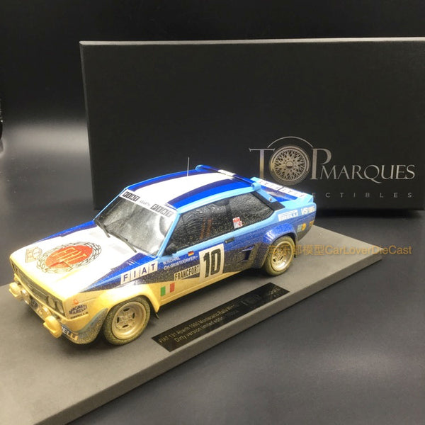 Top Marques - Fiat 131 Abarth Winner M.Claro 1980 Dirt Version resin scale 1:18 (TOP43CD)available now