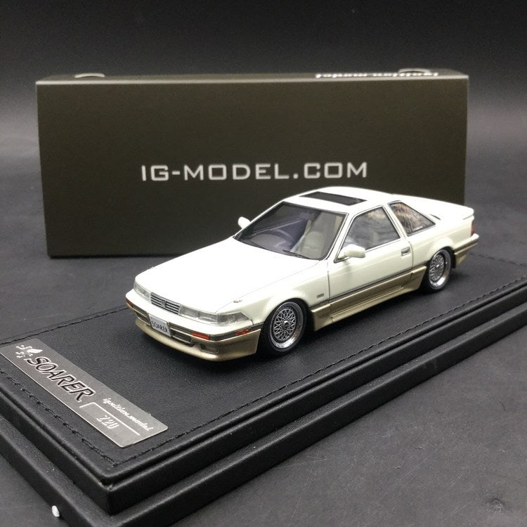 Ignition Model 1:43 Toyota Soarer (Z20) 3.0GT-LIMITED White/Silver ※BB(RS)-Wheel resin Model (IG1316) available now