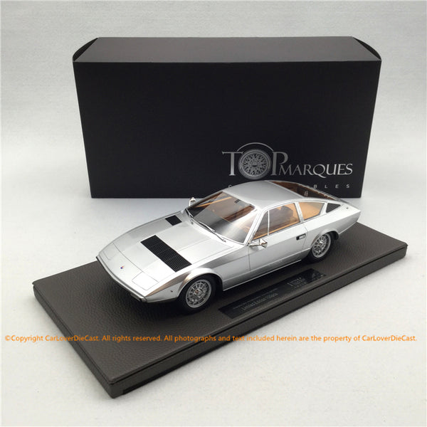 Top Marques 1:18 Maserati Khamsin(TOP33C) Silver Limited 250 pcs available Now