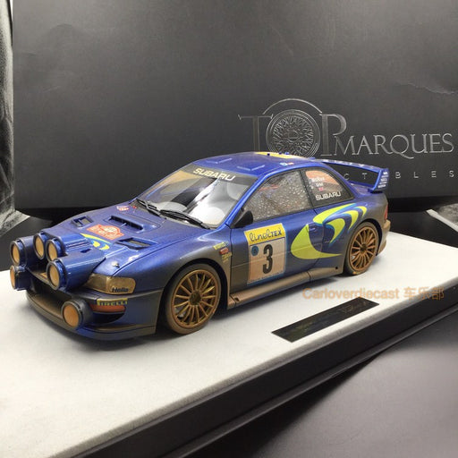 Top Marques - Subaru Impreza S4 WRC #3 Monte Carlo rally 1998 (Dirt Version) resin scale 1:12 (TMR12_02AD) available on end of March 2018 Pre-order now