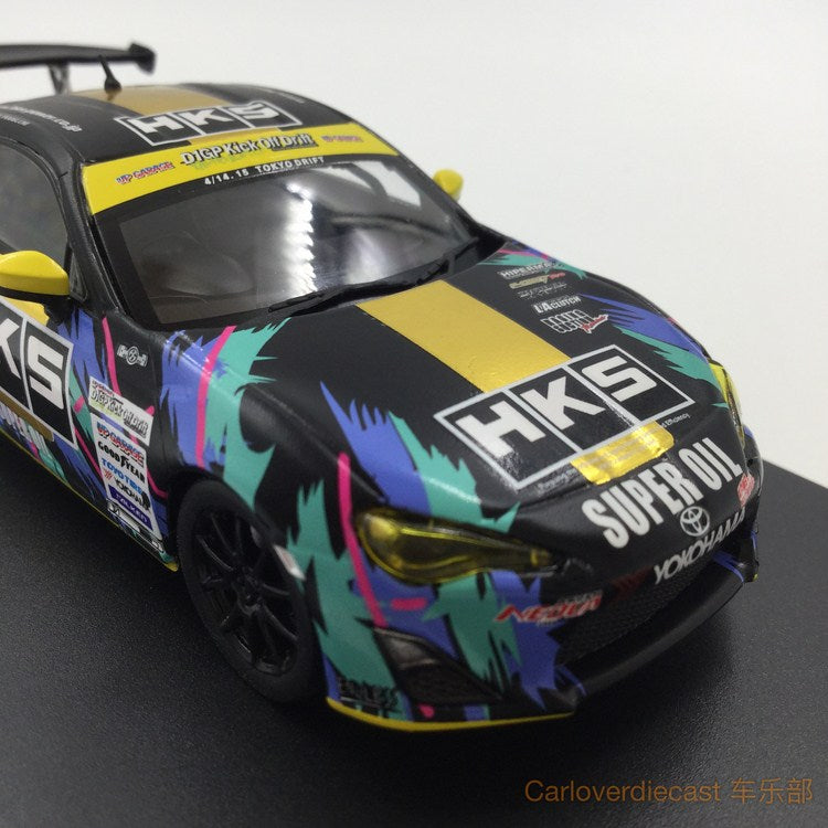 (Tarmac Works) Toyota 86-tuned By HKS  diecast scale 1:43 (T43-005-HKS)