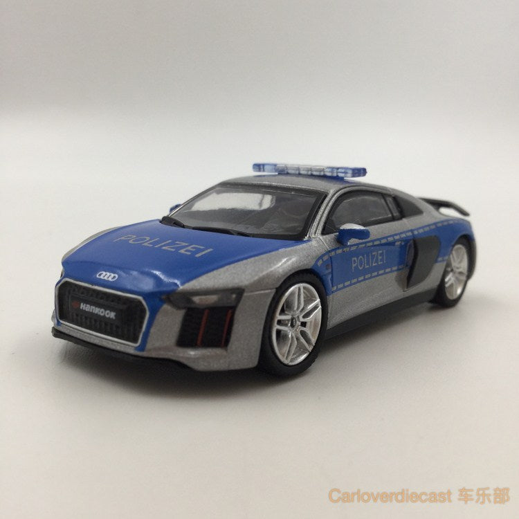 Tarmac Works Global Audi  R8 v10 Plus -German Polizei  diecast scale 1:64 (T64-001-GP) available now