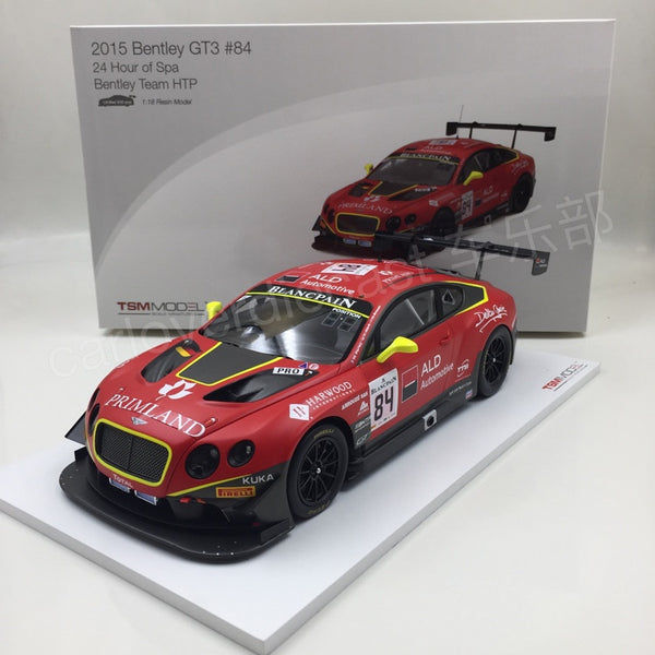 TSM -  Bentley GT3 #84 2015 24 Hrs of Spa Resin Scale 1/18 TSM161804R