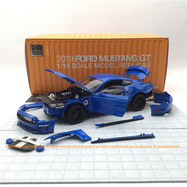 Diecast Master 1:18 Ford 2019 Mustang (Blue) diecast full open model (61003/4) LHD available now