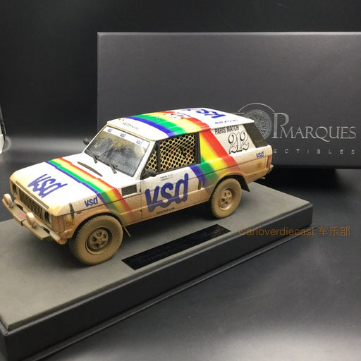 Top Marques - LandRover Rang Rover Paris Dakar Winner 1981 Dirt version resin scale 1:18 (TMPD01AD) available on end of March 2018 Pre-order now
