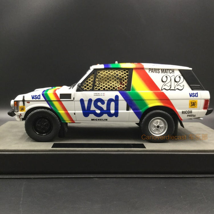 Top Marques - LandRover Range Rover Paris Dakar Winner 1981  resin scale 1:18 (TMPD01A) available on end of March 2018 Pre-order now