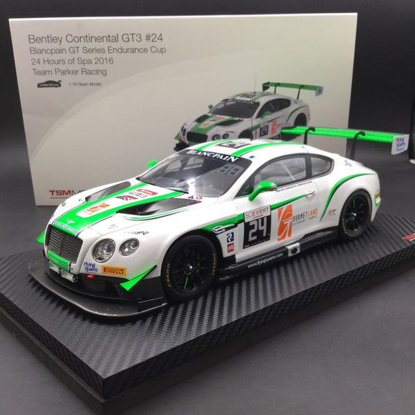 TSM Model - Bentley Continental GT3 #24  Blancpain GT Series Endurance Cup 24 Hours of Spa 2016  Team Parker Racing resin scale 1:18 available now (TSM181012R)