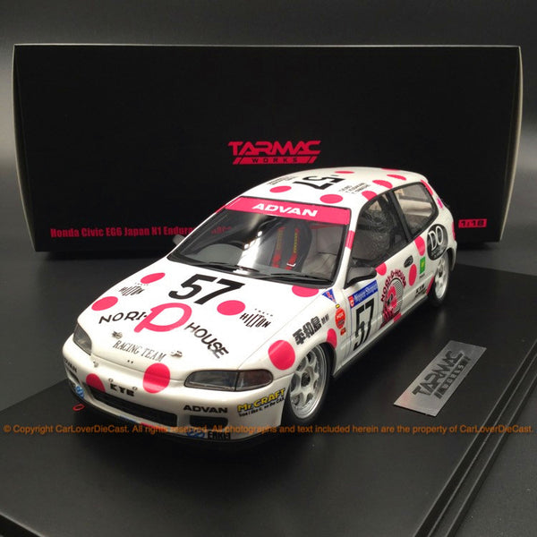 Tarmac Works 1:18 Honda Civic EG6 Japan N1 1992 # 57 (T18-001-NPH)