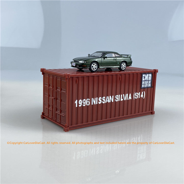 DieCast Master 1:64 Nissan Silvia S14 (3 colors option) bundle with 1/50 container diecast car model available now