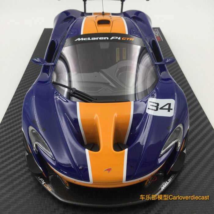 TSM-Model McLaren P1™ GTR Blue/Orange Resin Scale 1:18  (TSM181008R) availabl now