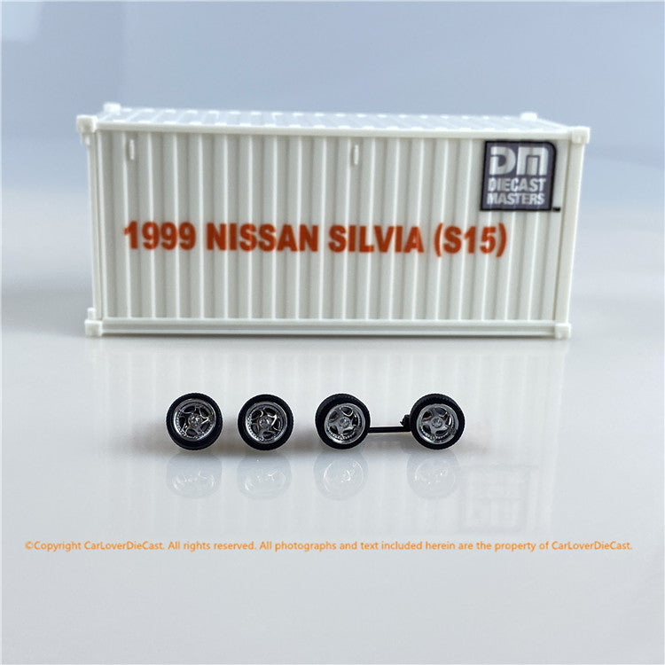 DieCast Master 1:64 Nissan Silvia S15 (3 colors option) bundle with 1/50 container diecast car model available   now