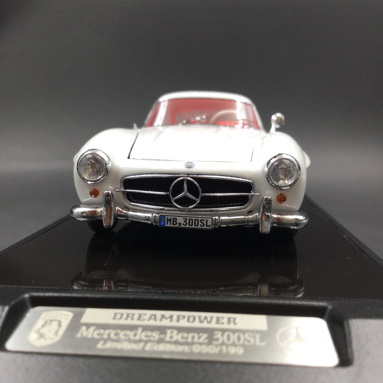 DreamPower 1:43 Mercedes 300SL resin Model (bonnet openable ) F-SL-01WH limited 199pcs comes with display case & base , collectible coin & certificate (White) available  now