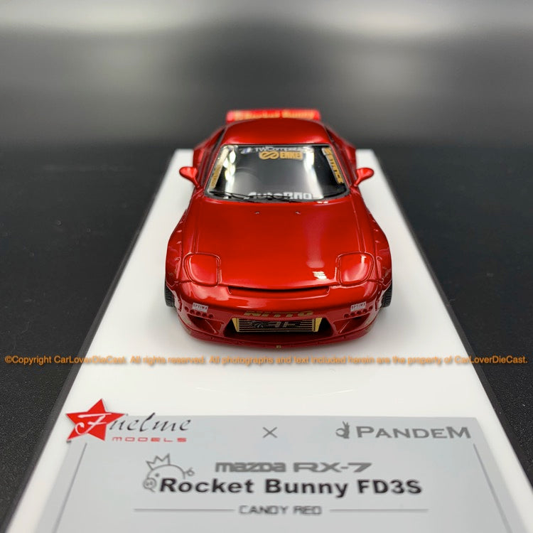 Fuelme 1:43 Rocket Bunny RX-7 FD3S Resin Model (FM43008LM-C) Candy Red available now