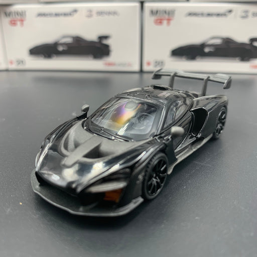 MINI GT 1:64  McLaren Senna Onyx Black (LHD / RHD)  diecast car model MGT00020 available  now